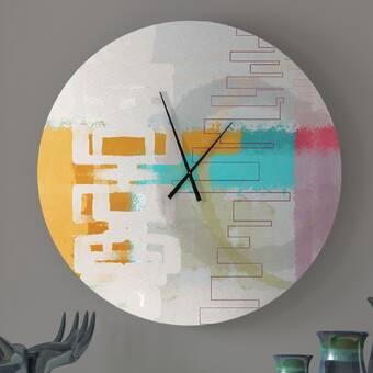 East Urban Home Oversized Malik Wall Clock Wayfair