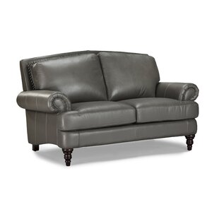 Ewing Leather Loveseat by Red Barrel Studio Fresh