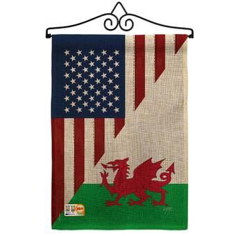 Breeze Decor American Canada Friendship 2 Sided Burlap 19 X 13 In Garden Flag Wayfair