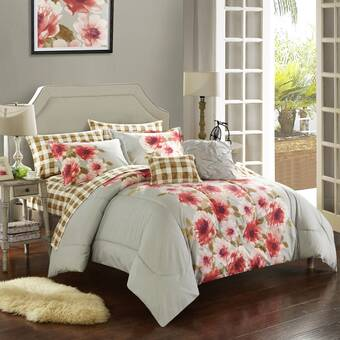 Bungalow Rose Overbey Super Silky Touch Micromodal Cotton Reversible Comforter Set Wayfair