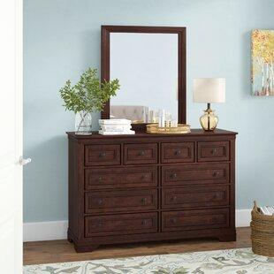 Rossie 8 Drawer Double Dresser with Mirror