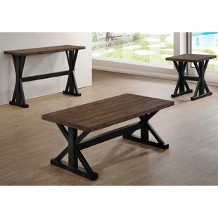Della 3 Piece Coffee Table Set