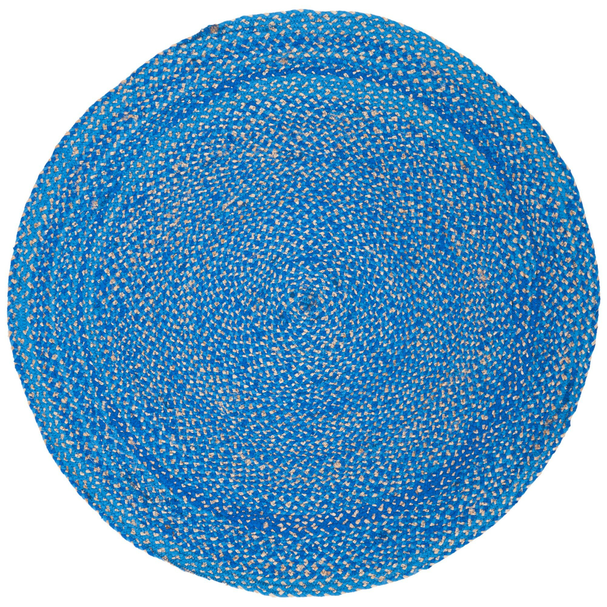 Picture of: Highland Dunes Round Crichton Abstract Handmade Tufted Blue Area Rug Wayfair