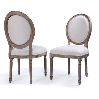 Agda Classic Elegant Upholstered Dining Chair (Set of 2) by One Allium Way SKU:CD716353 Details