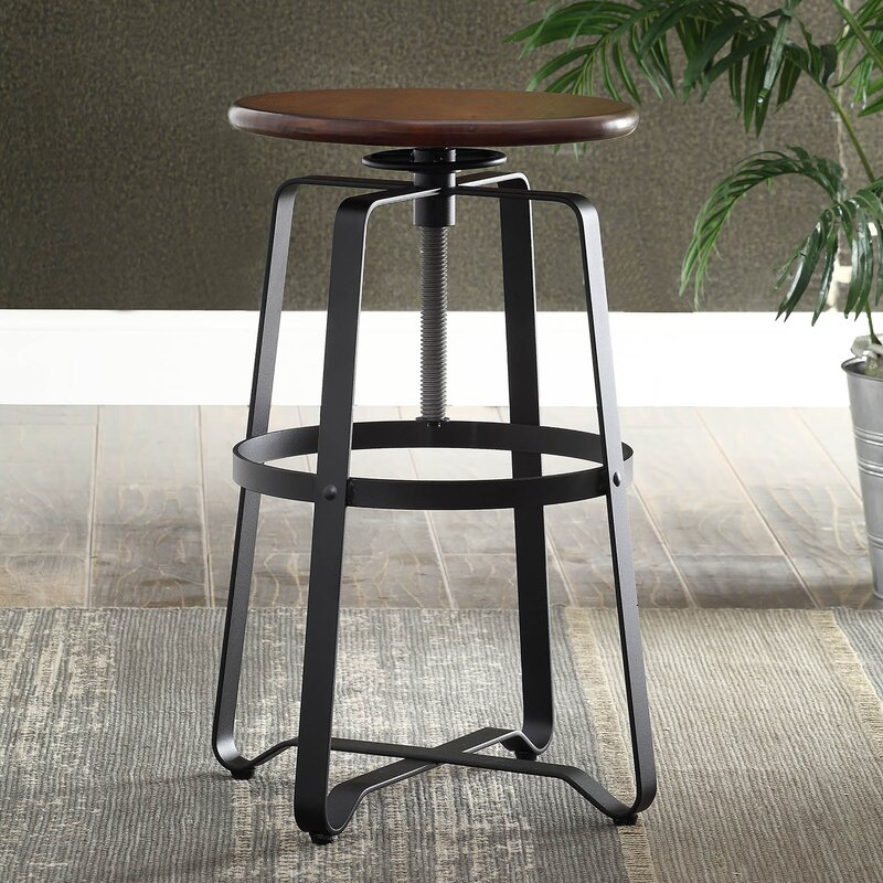 Belfield Adjustable Height Swivel Bar Stool & Laurel Foundry Modern Farmhouse Belfield Adjustable Height Swivel ... islam-shia.org