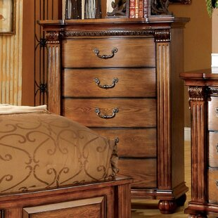 Gingras Traditional 5 Drawers Chest