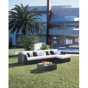 Soho 6 Piece Sectional Seating Group with Sunbrella Cushions
