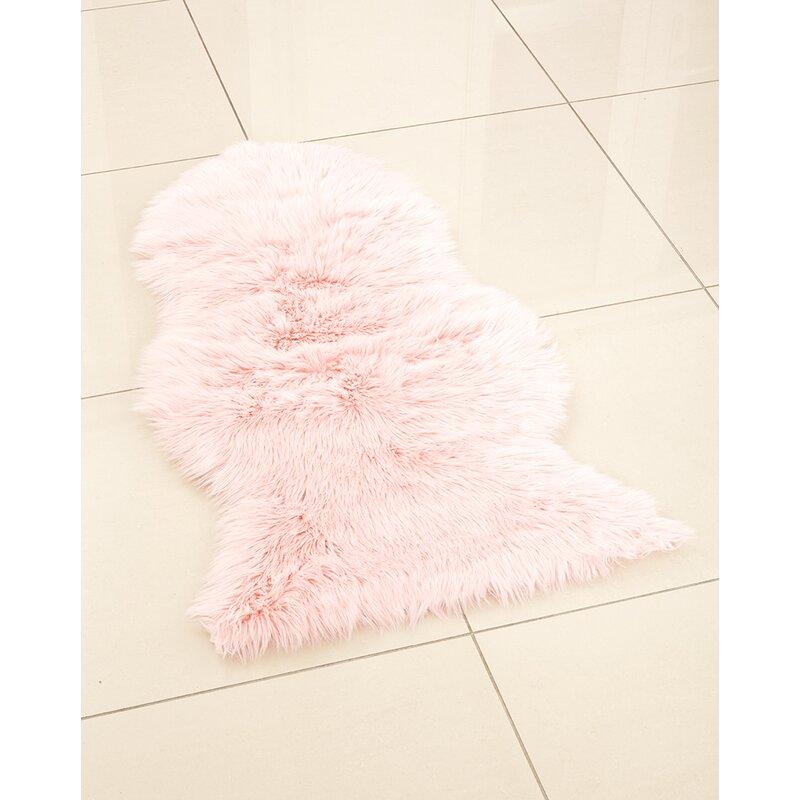 Sheepskin Baby Pink Area Rug