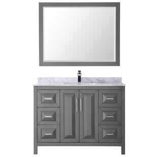 Daria 48 Single Bathroom Vanity Set with Mirror by Wyndham Collection