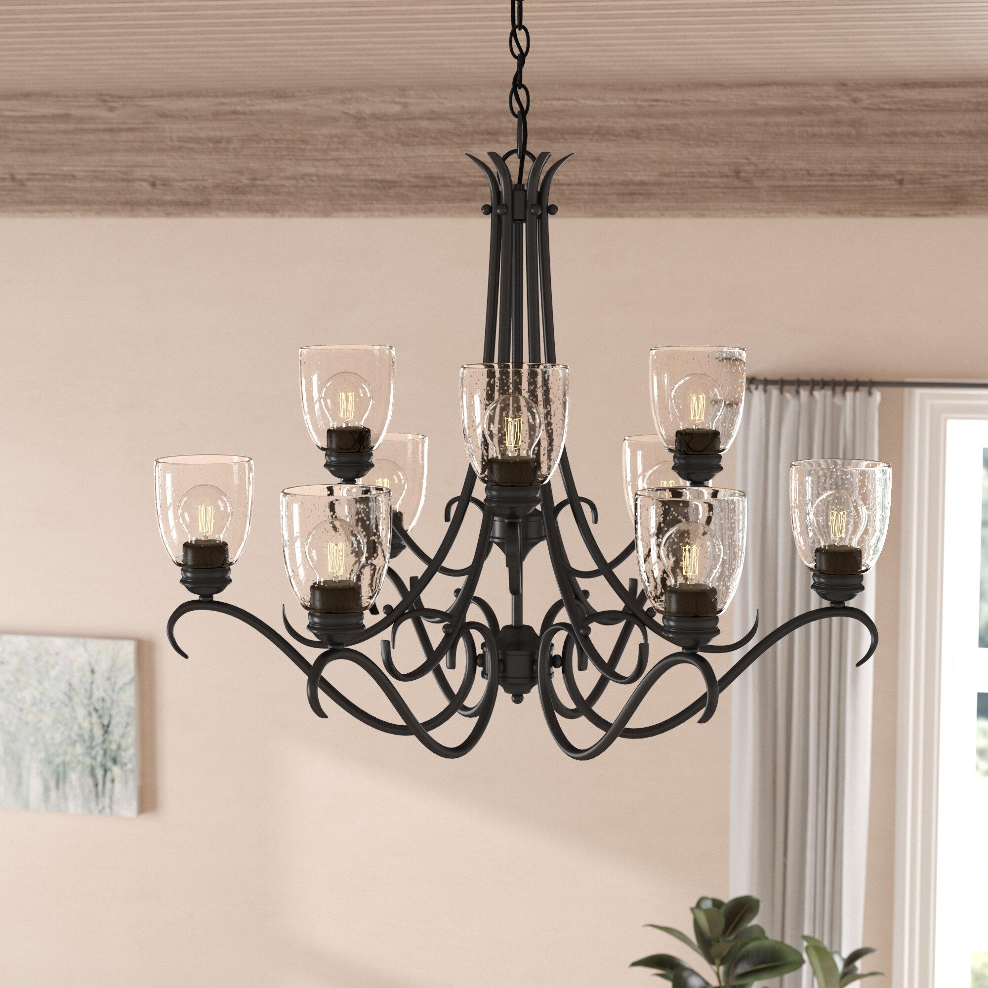 Laurel foundry modern farmhouse sheila 9 light shaded chandelier reviews wayfair ca