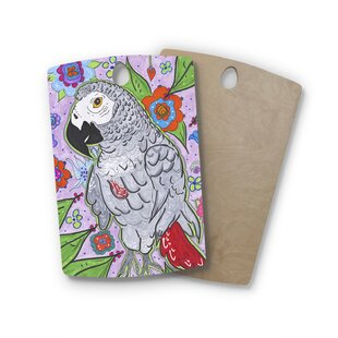 Rebecca Fischer Birchwood Rio Parrot Cutting Board