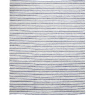 Price comparison One-of-a-Kind Cullerton Hand-Knotted Wool Blue Indoor Area Rug By Isabelline