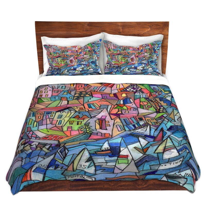 East Urban Home Sailing In The Bay Duvet Cover Set Wayfair