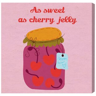 Abby Sweet Cherry Canvas Art by HoneyBee Nursery
