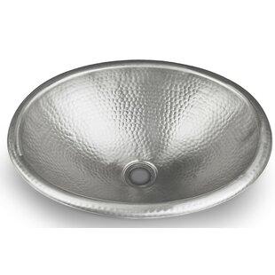 Find for Metal Oval Drop-In Bathroom Sink ByMonarch Abode
