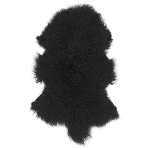 Carico Sheepskin Black Area Rug