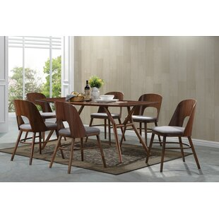 Kirsten 7 Piece Solid Wood Dining Set Corrigan Studio