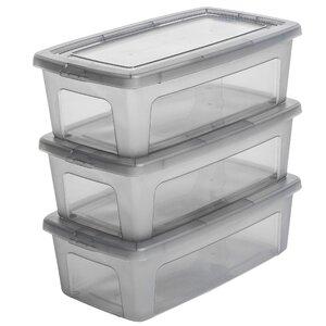 3-tlg. Aufbewahrungsbox Modular aus Kunststoff ..