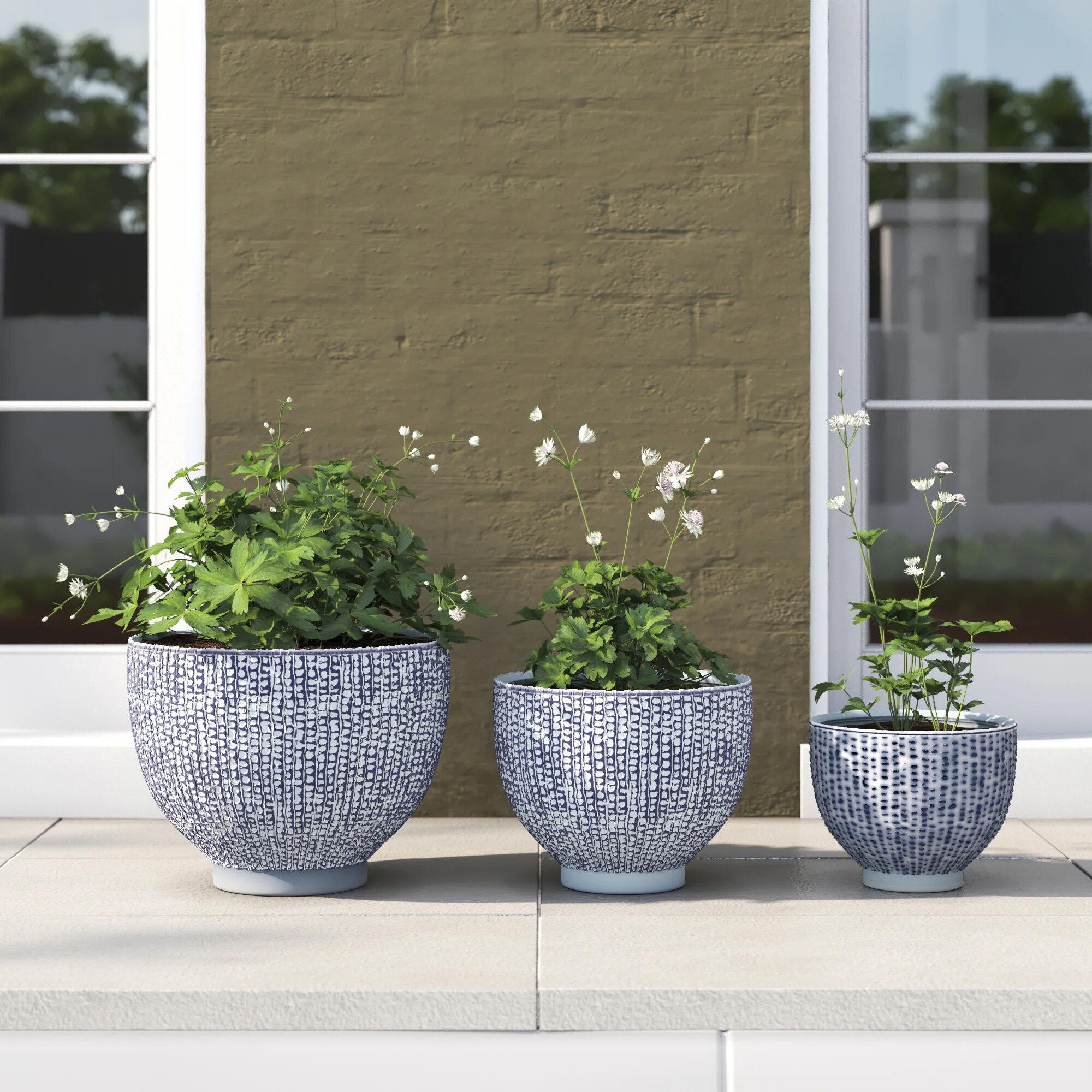 Gilbert 3 Piece Ceramic Pot Planter Set Reviews Joss Main
