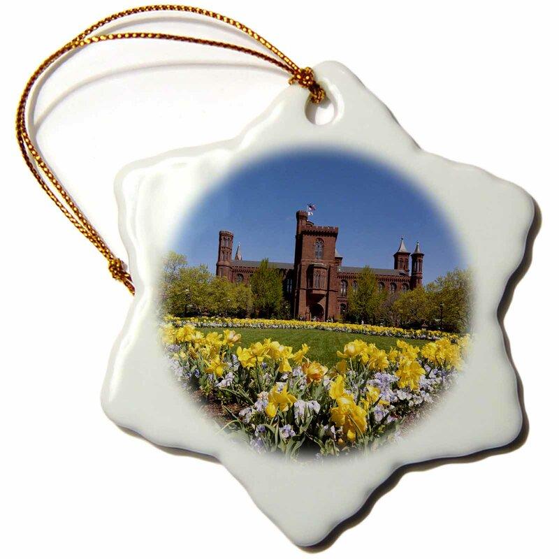 The Holiday Aisle Usa Washington Dc Smithsonian Institute Castle Snowflake Holiday Shaped Ornament Wayfair