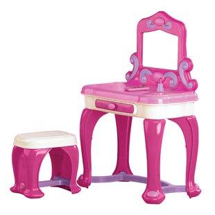 Khadijah Deluxe Vanity Set with Mirror by Zoomie Kids
