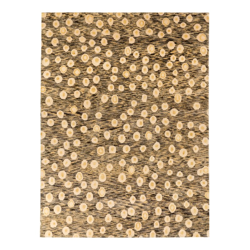 Solo Rugs Grit And Ground Abstract Hand Knotted Wool Yellow Area Rug Wayfair