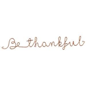 Be Thankful 3D Cursive Metal Wall Du00e9cor