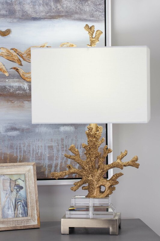 Cole grey polystone 26 coral table lamp reviews wayfair polystone 26 coral table lamp mozeypictures Images