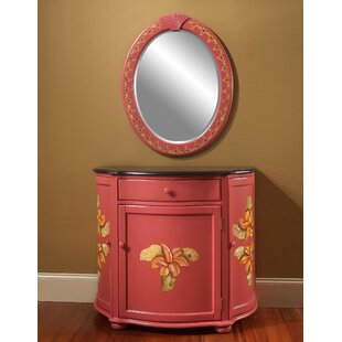Spillane Hand-Painted Vanity with Mirror