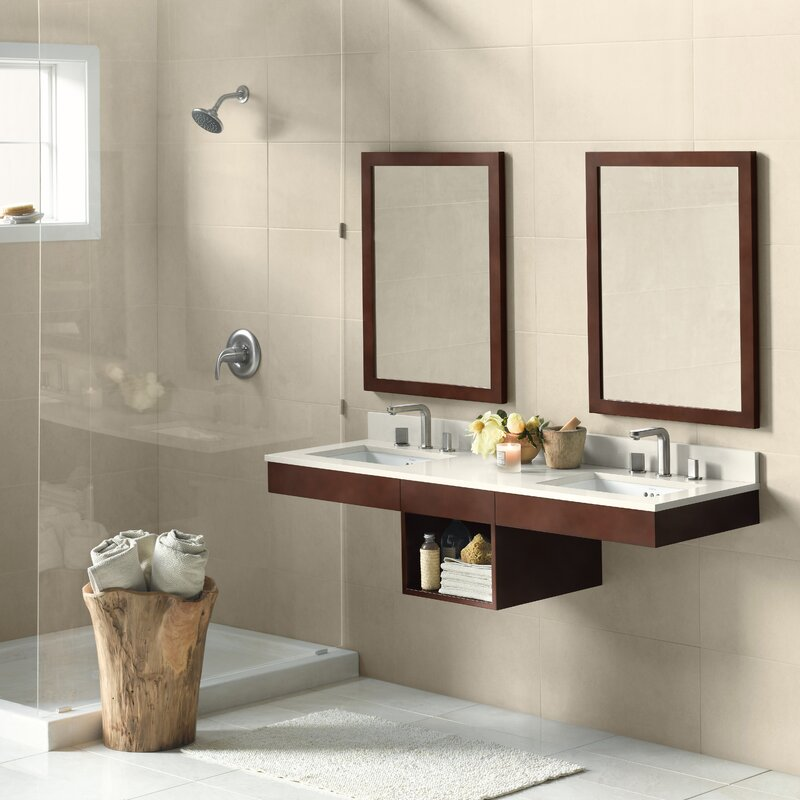 "ronbow adina 61"" double wall mount bathroom vanity set & reviews"