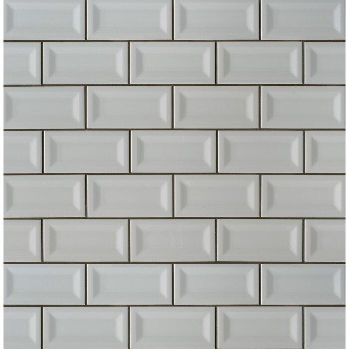 Inverted Beveled 3 X 6 Ceramic Subway Tile