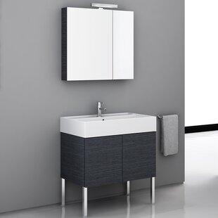 Smile 31 Single Bathroom Vanity Set with Mirror by Iotti by Nameeks