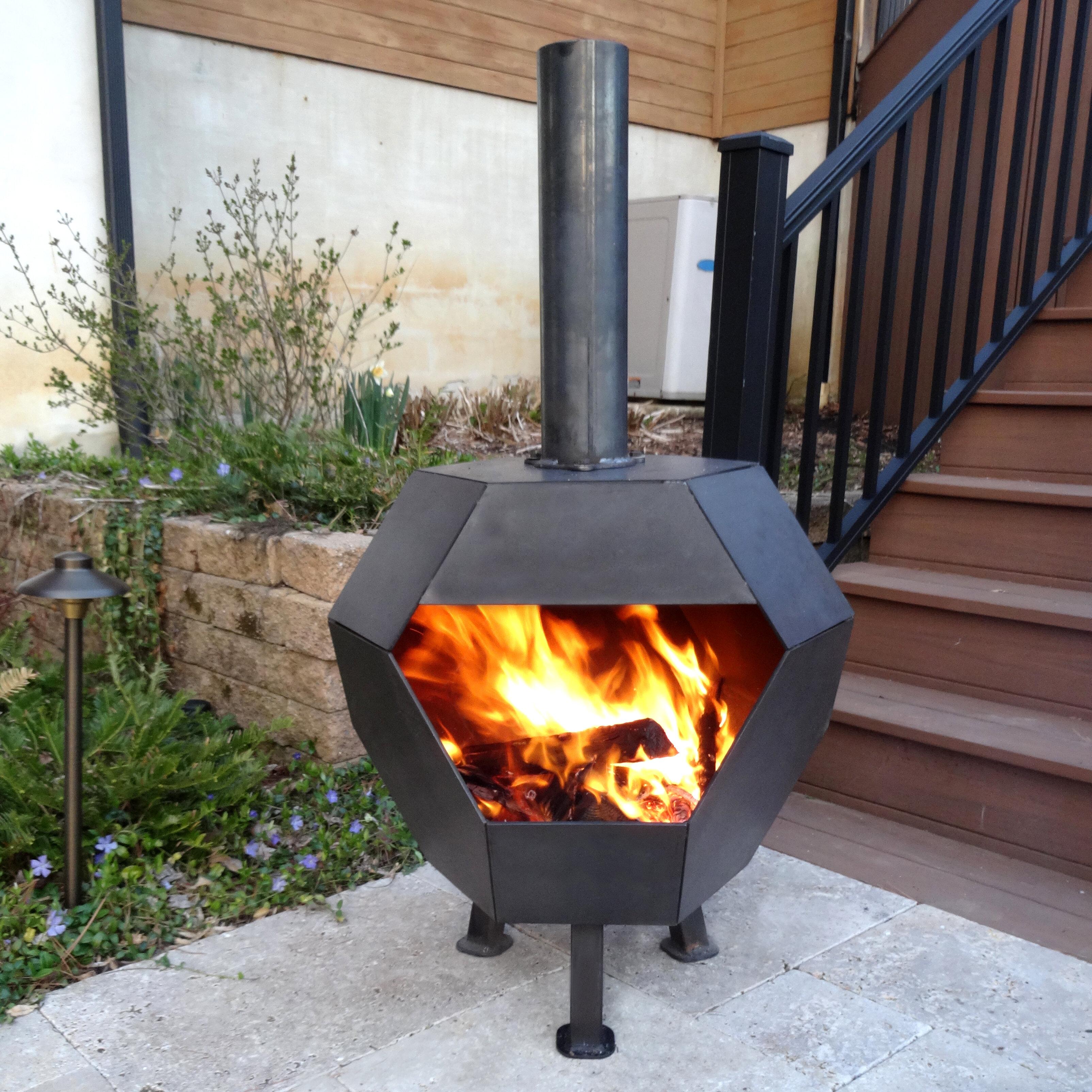 Cavo Design Octo Steel Wood Burning Fire Pit Reviews Wayfair