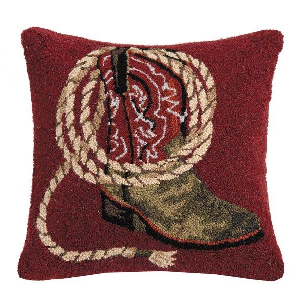 Loon Peak Revis Western Boots Wool Throw Pillow Reviews Wayfair