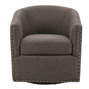 Leominster Swivel Armchair by Three Posts