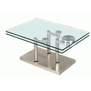 Daivelis Glass Coffee Table by Orren Ellis