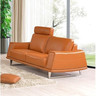 Ballou Leather Loveseat by Latitude Run