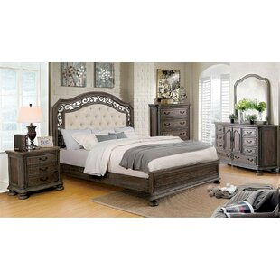 Simpson Upholstered Panel Bed