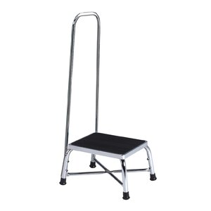 1-Step Steel Bariatric Step Stool with 600 lb. Load Capacity