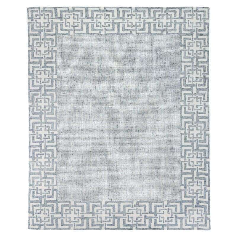 Exquisite Rugs Pryce Oriental Handmade Tufted Wool Gray White Area Rug Perigold