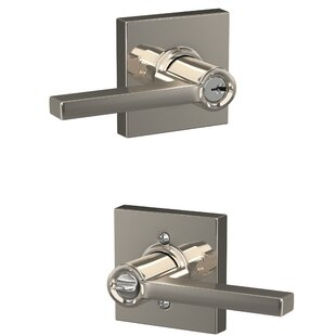 Latitude Keyed Entry Lever with Collins Trim by Schlage