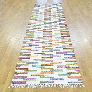 Find for One-of-a-Kind Scurlock Handmade Kilim Runner 2'8 x 10' Wool White Area Rug By Isabelline