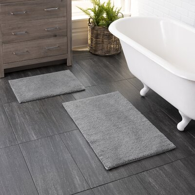 Gray Amp Silver Bath Rugs Amp Mats You Ll Love In 2020 Wayfair