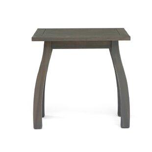 Vanhorn Outdoor Wooden Side Table