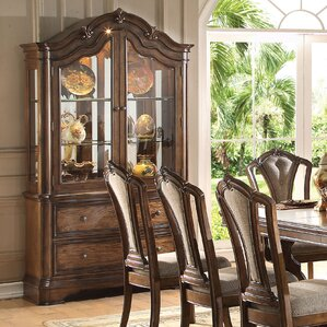 Crispin Lighted China Cabinet by Darby Home Co