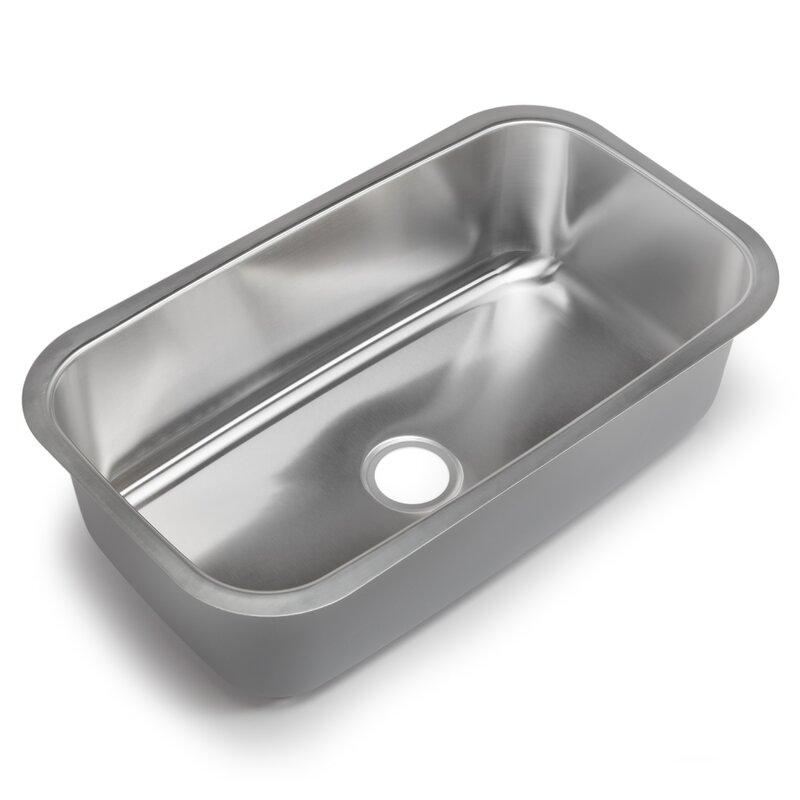 """Undermount Kitchen Single Sink hahn classic chef 31.5"""" x 18.38"""" single bowl undermount kitchen"""