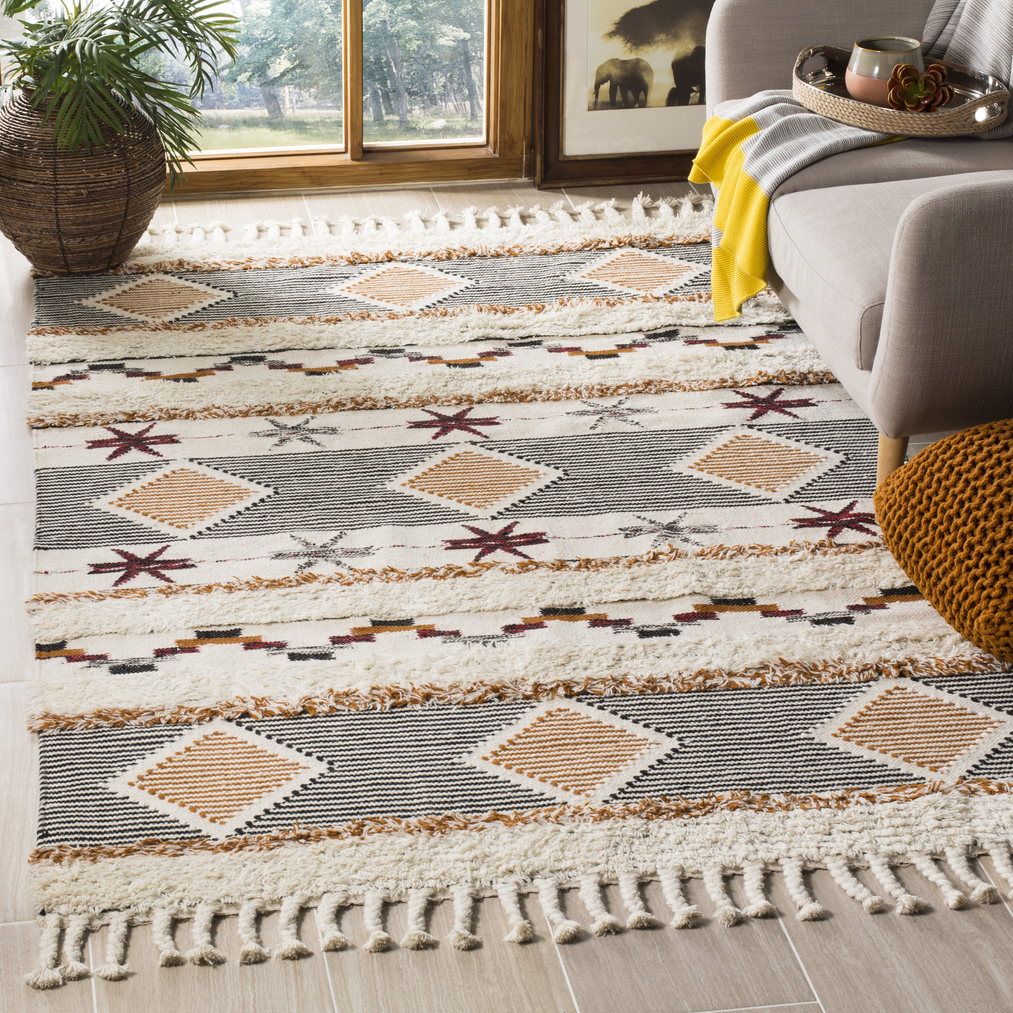 Mikayla Hand Knotted Wool Cotton Ivory Area Rug Reviews Allmodern