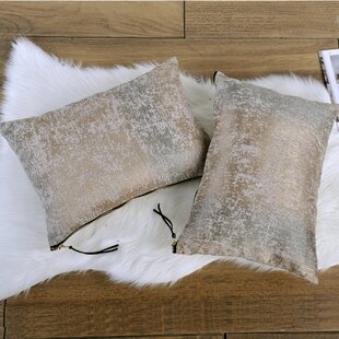 Archer Jacquard Chenille Big Zipper Lumbar Pillow (Set of 2)