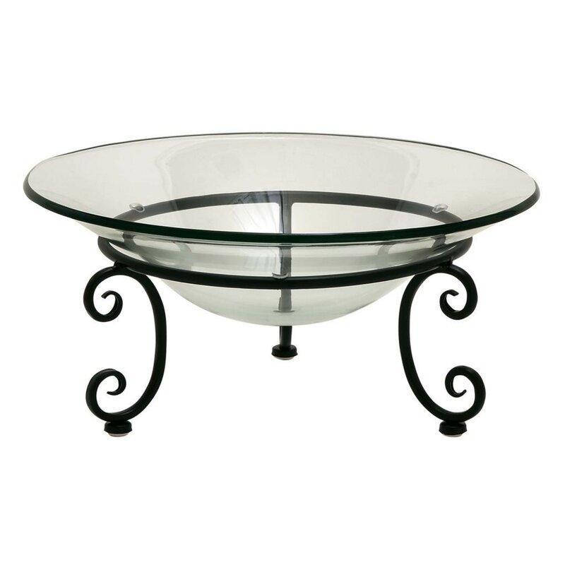 Fleur De Lis Living Buettner Glass Metal Decorative Bowl Reviews
