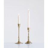 2 Piece Decorative Taper Metal Candlestick Holder Set (Set of 2)